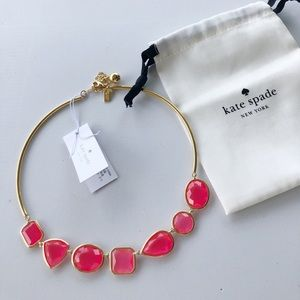 NWT KATE SPADE coral necklace